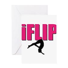 I Flip Tumbling gymnast Greeting Card