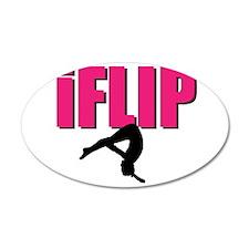 I Flip Tumbling gymnast Wall Decal