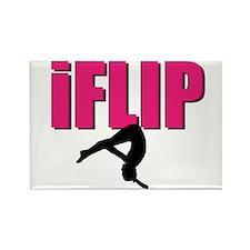 I Flip Tumbling gymnast Rectangle Magnet (10 pack)