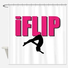I Flip Tumbling gymnast Shower Curtain