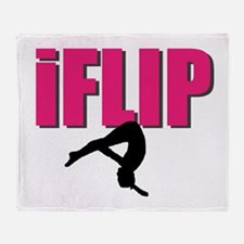 I Flip Tumbling gymnast Throw Blanket