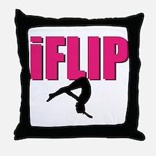 I Flip Tumbling gymnast Throw Pillow