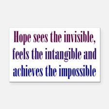 Impossible Hope Rectangle Car Magnet