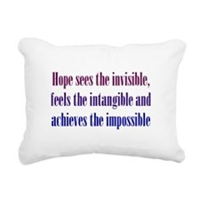 Impossible Hope Rectangular Canvas Pillow