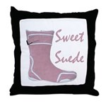 Sweet Suede Throw Pillow