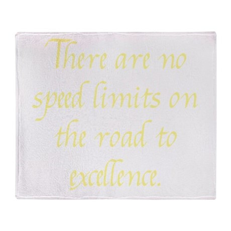 Road to Excellence Throw Blanket