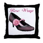 Rose Wrap Throw Pillow