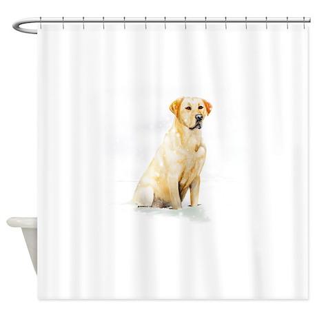 Labrador Retriever U0026 Snowflakes Shower Curtain