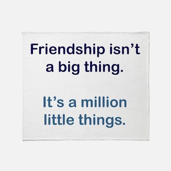 Friendship is Throw Blanket