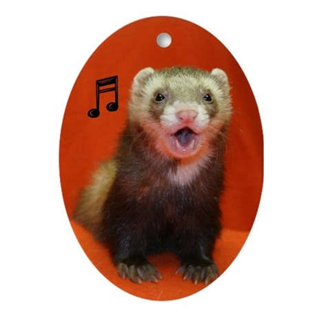 Singing Ferret Ornament