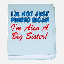Puerto Rican Big Sister baby blanket