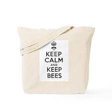 Keep Calm and Keep Bees Tote Bag
