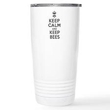 Keep Calm and Keep Bees Travel Mug