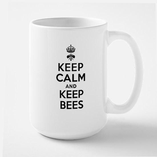 Keep Calm and Keep Bees Large Mug