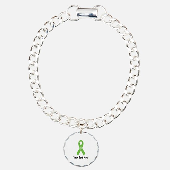 Green Awareness Ribbon C Charm Bracelet, One Charm