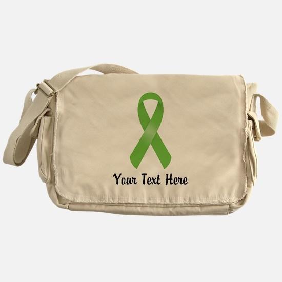 Green Awareness Ribbon Customized Messenger Bag