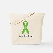 Green Awareness Ribbon Customized Tote Bag