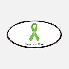 Green Awareness Ribbon Customized Patch