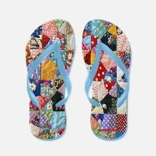 Colorful Patchwork Quilt Flip Flops