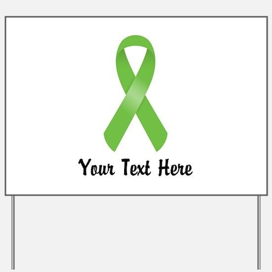 Green Awareness Ribbon Customized Yard Sign