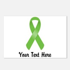 Green Awareness Ribbon Cu Postcards (Package of 8)