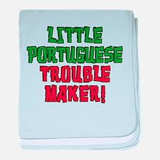 Little Portuguese Trouble Maker baby blanket