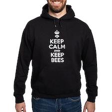 Keep Calm and Keep Bees Dark Hoodie