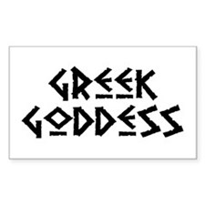 Greek Goddess Rectangle Decal