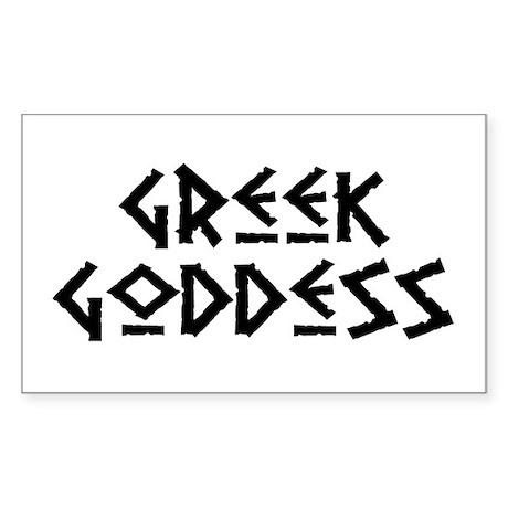 Greek Goddess Rectangle Sticker