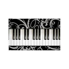 Piano Keyboard 3'X5' Area Rug