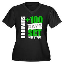 100 Days SCT Survivor Women's Plus Size V-Neck Dar