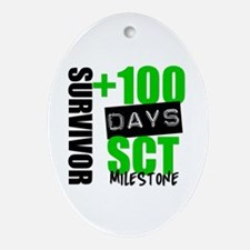 100 Days SCT Survivor Ornament (Oval)