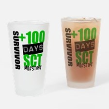 100 Days SCT Survivor Drinking Glass