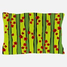 Red Plum Flowers Pillow Case