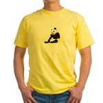 PAND BEAR HOLDING A SUCKER Yellow T-Shirt