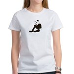 PAND BEAR HOLDING A SUCKER Women's T-Shirt