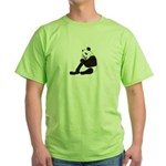 PAND BEAR HOLDING A SUCKER Green T-Shirt