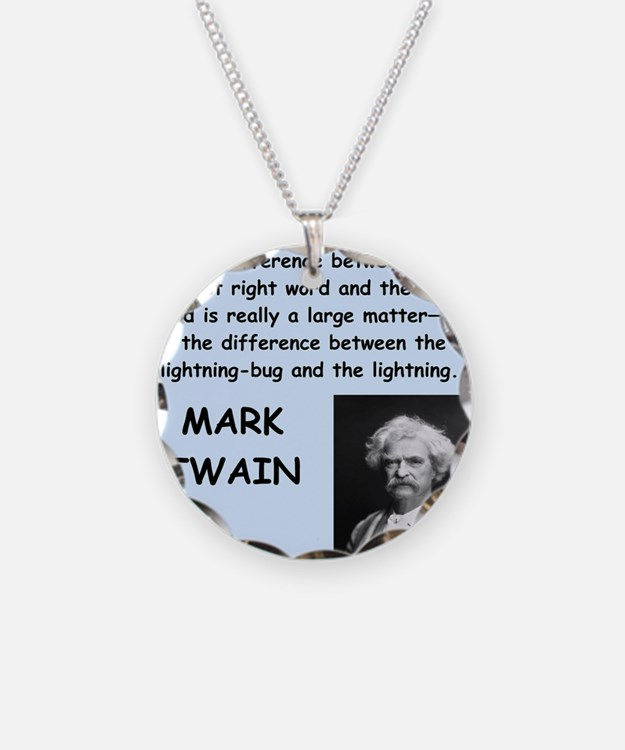 Mark Twain Quote Necklace