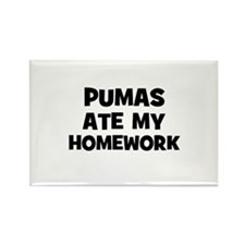Pumas Ate My Homework Rectangle Magnet