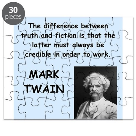 Mark Twain Quote Puzzle
