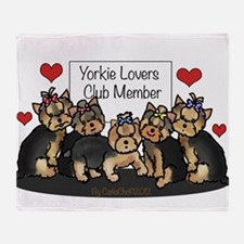 Yorkie Lovers Club Member Throw Blanket