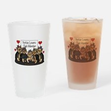Yorkie Lovers Club Member Drinking Glass