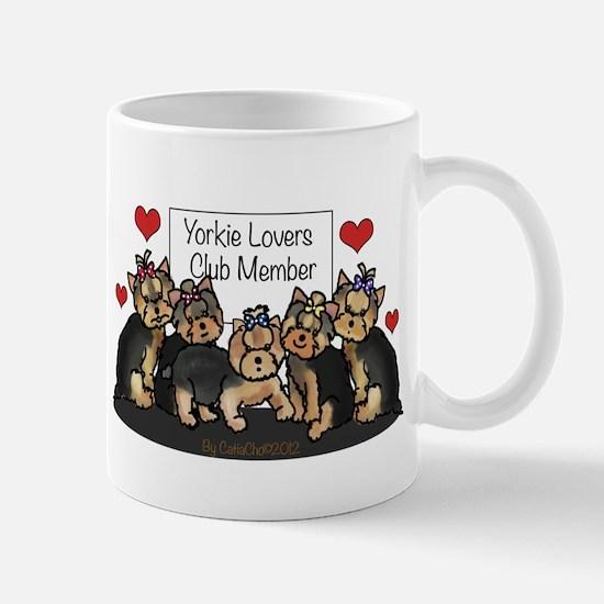 Yorkie Lovers Club Member Mug
