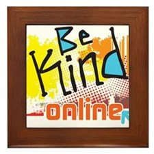 Be Kind Online Framed Tile