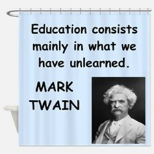 Mark Twain Quote Shower Curtain