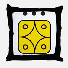 YELLOW Electric STAR Throw Pillow