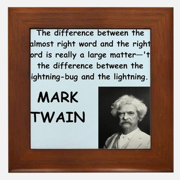 Mark Twain Quote Framed Tile