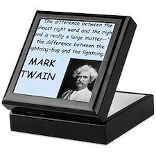 Mark Twain Quote Keepsake Box