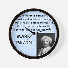 Mark Twain Quote Wall Clock
