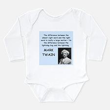 Mark Twain Quote Body Suit